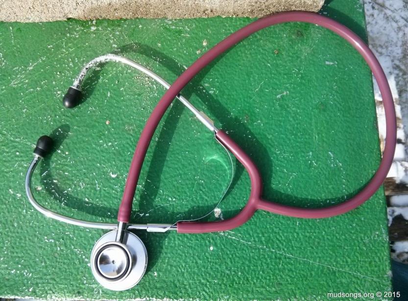 A $7 stethoscope.